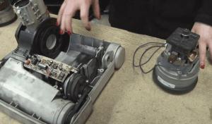 شکل و شمایل یک موتور جاروبرقی به این شکل است